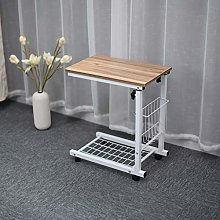 Height Adjustable Mobile Lap Table Computer Desk