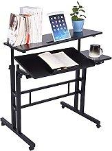 Height Adjustable Stand Up Desk, Portable Tilting