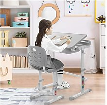 Height Adjustable Study Desk And Chair Set Pull