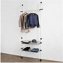 Height Adjustable Telescopic Wardrobe Organiser,