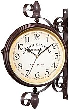 HEIRAO European Style Vintage Station Wall Clock,