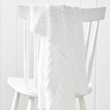 Heirloom White Baby Blanket, White, One Size