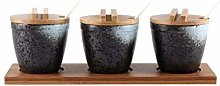 HELEN CURTAIN Ceramic Spice Jar Japanese Bamboo