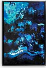 Helena Izett - 'Blue Abstract' Framed