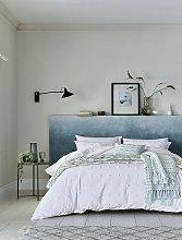 Helena Springfield White Woven Spot Bedding Set -