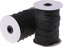 Hellery 50 Yards Invisible Snap Buttons Ribbon