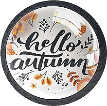 Hello Autumn Lettering with Food Drawer Knobs Pull