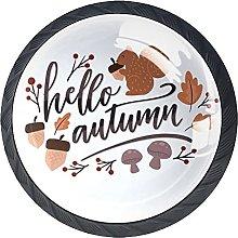 Hello Autumn Squirrel with Acorn-01 Cabinet Knobs