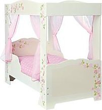 Hello Home Rose Four Poster Toddler Bed, One Colour