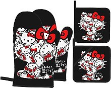 Hello Kitty Oven Gloves And Pot Holder Sets