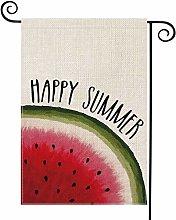 Hello Summer Watermelon Garden Flag Vertical
