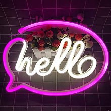 Hello with Frame Neon Signs Lights, Neon Lights