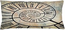 Helmine Clock Roman Digit Time Spiral Outdoor