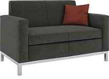 Helsinki 2 Seater Fabric Sofa, Dark Grey