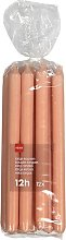 HEMA 12 Household Candles - 29 Cm Salmon Pink