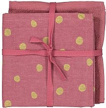 HEMA 2 Tea And Kitchen Cloths Pink/gold (pink)