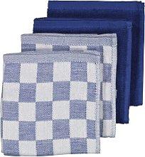 HEMA 4 Tea And Kitchen Towels (light blue)