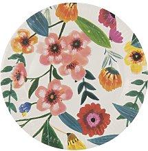 HEMA 8 Paper Plates 22.5 Cm Flower