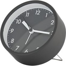 HEMA Alarm Clock Analogue Ø 10 Cm Dark Grey (dark