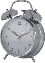 HEMA Bell Alarm Clock (silver)