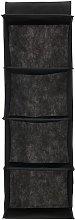 HEMA Closet Organizer 29x29x84 (black)