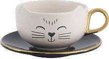 HEMA Cup And Saucer Cat