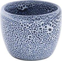 HEMA Egg Cup 5 Cm Porto Reactive Glaze White/blue