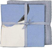HEMA Grey/blue Tea Towel And Kitchen Towel