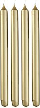 HEMA Household Candles - 29 Cm - Gold - 4x (gold)