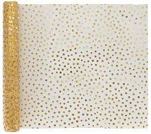 HEMA Table Runner 300x30 Gold Dots (gold)