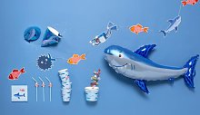 HEMA Tablecloth Paper 138x220 Fishes