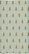 HEMA Tablecloth Paper 138x220 Green With Pine Trees