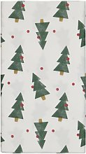 HEMA Tablecloth Paper 138x220 White With Pine Trees