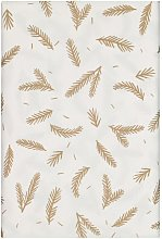 HEMA Tablecloth Paper 138x280 White With Leaves