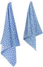 HEMA Tea- And Kitchen Towel Flowers - Cotton - Blue