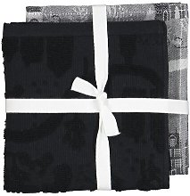 HEMA Tea- And Kitchen Towel - Houses (black/white)
