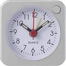 HEMA Travel Alarm Clock (silver)