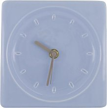 HEMA Wall Clock - 15 X 15 Cm - Light Blue Ceramic