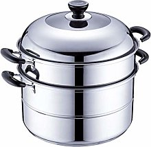 HEMFV Steamer Pot Steamer Stainless Steel Double