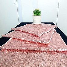 HeMiaor 12x132 inches Rose Gold Sequin Table