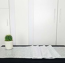 HeMiaor 12x60 Inch Sequin Table Runner Silver for