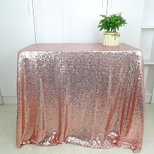 HeMiaor 48x72-Inch Rose Gold Rectangular Sequin