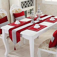 HeMiaor Red Elegant Table Runner for Christmas