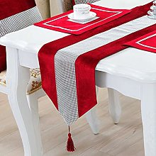 HeMiaor Sequined Rhinestone Table Runners, 13x84