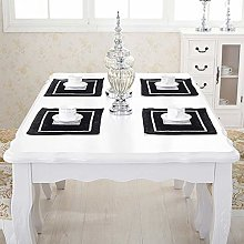 HeMiaor Set of 2 Black Elegant Place Mats with
