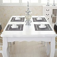 HeMiaor Set of 4 Grey Luxurious Placemats Perfect