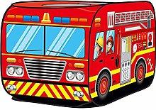 Hemistin Kids Pop Up Play Tent,Fire Engine Tent,