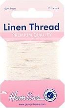 Hemline H1001/01 White 100% Linen Strong Mending