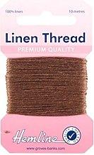 Hemline H1001/02 Brown 100% Linen Strong Mending