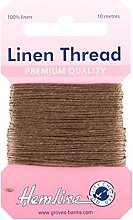Hemline H1001/03 Khaki 100% Linen Strong Mending